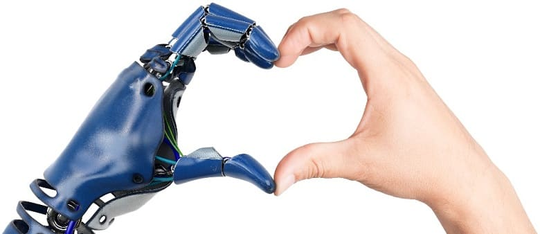 Heart Shaped by Bionic and Human Hands