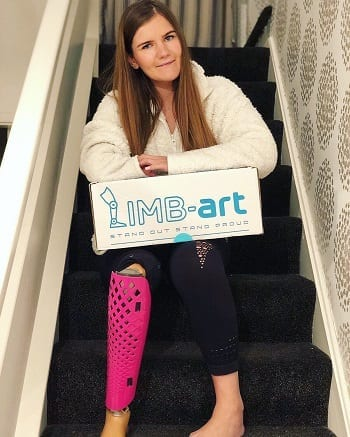 Limb Art Pink Leg Cover