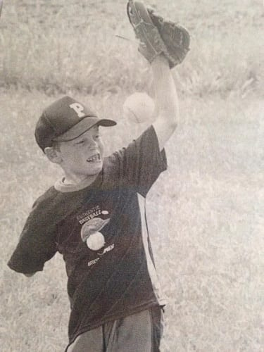 Richard Slusher Playing Baseball