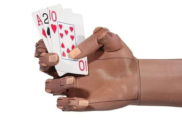 TrueLimb Holding Playing Cards