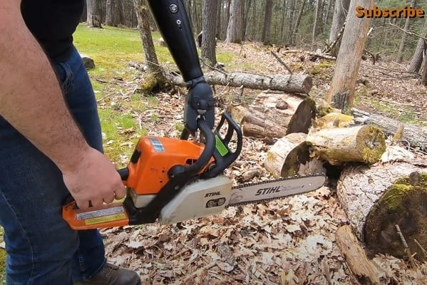 Using Chainsaw With Ottobock Greifer 02